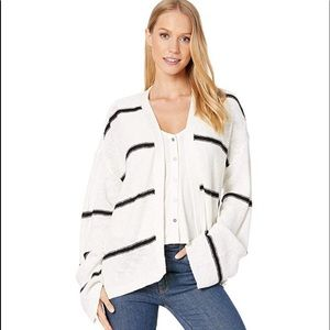 NWT Capelli Striped Oversized Cardigan